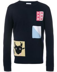 JW Anderson - Patch Knit Sweater - Lyst
