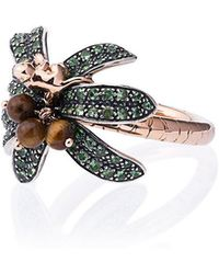 Bibi Van Der Velden - 18k Rose Gold Monkey Palm Tsavorite Ring - Lyst
