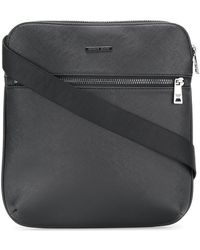 Armani Jeans - Saffiano Effect Messenger Bag - Lyst