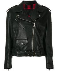 Belstaff - Lukin Leather Biker Jacket - Lyst