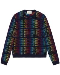 8b5beded80d619 Burberry Rainbow Wool & Cashmere Sweater for Men - Lyst