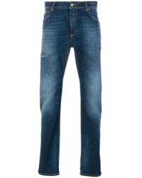 Closed - Washed Jeans With Turn Up Cuffs - Lyst