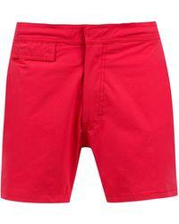 Amir Slama Mid Rise Swim Shorts - Красный