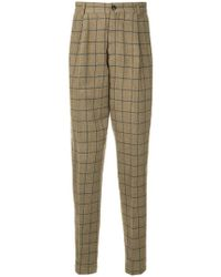 Tomorrowland - Check Tapered Trousers - Lyst