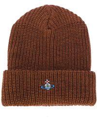 Vivienne Westwood | Ribbed Logo Beanie Hat | Lyst