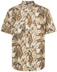 Julien David - Leaf Print Shirt - Lyst