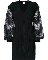 Emanuel Ungaro | Contrast Sleeve Knitted Dress | Lyst