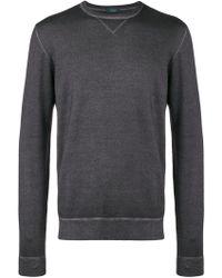 Zanone - Exposed Seam Knitted Sweater - Lyst