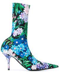 Balenciaga - Botas Knife con estampado floral - Lyst