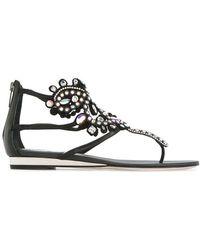 Rene Caovilla - Embellished Ankle Sandals - Lyst