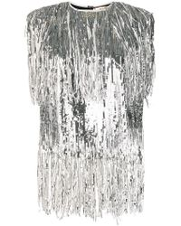 MSGM - Sequin Fringed Top - Lyst