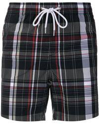 Moncler - Checked Swim Shorts - Lyst