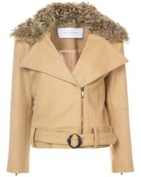 Kimora Lee Simmons - Removable Shearling Collar Bomber Jacket - Lyst