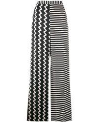 Stella McCartney - Wide-leg Printed Silk Trousers - Lyst