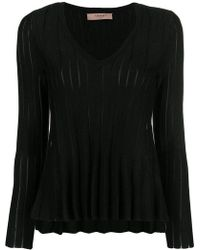 Twin Set - Ribbed Detail Jumper - Lyst