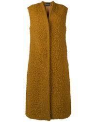 Erika Cavallini Semi Couture - Sleeveless Open Front Coat - Lyst