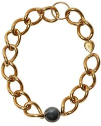 Burberry - Heart And Marbled Resin Charm Chain Necklace - Lyst