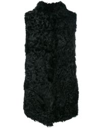 Numerootto - Mid-length Fur Gilet - Lyst