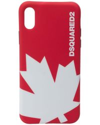 DSquared² - Maple Leaf Iphone X Cover - Lyst