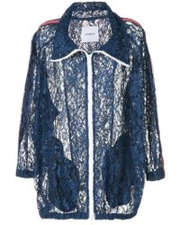 Ainea - Lace Zipped Oversized Jacket - Lyst
