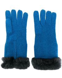 N.Peal Cashmere - Fur-trim Knitted Gloves - Lyst