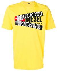 DIESEL - Imposter Printed T-shirt - Lyst