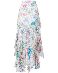 Peter Pilotto - Floral Print Ruffled Skirt - Lyst