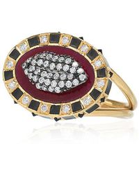 Holly Dyment - 18k Yellow Gold Glam Lip Diamond Ring - Lyst