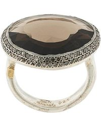 Rosa Maria - Smokey Quartz And Diamond Ring - Lyst