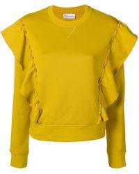 RED Valentino - Ruffled Sweatshirt - Lyst