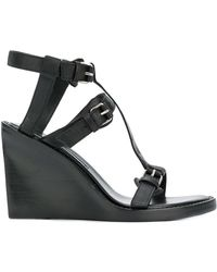 Ann Demeulemeester | Buckled Wedge Sandals | Lyst