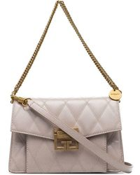 Givenchy - Nude Gv3 Quilted Leather Shoulder Bag - Lyst
