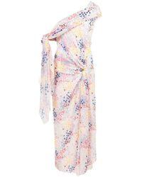 Carolina Herrera - Asymmetrisches Kleid - Lyst