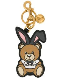 Moschino - Playboy Ready To Bear Keyring - Lyst