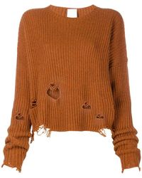 Pinko - Distressed Knit Jumper - Lyst