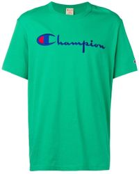 b215caae19ef Champion Logo T-shirt in Blue for Men - Lyst
