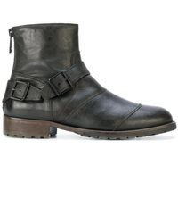 Belstaff - Trailmaster Double-buckle Leather Boots - Lyst