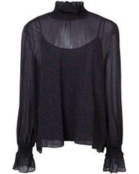 Just Female - Asta Sheer Blouse - Lyst