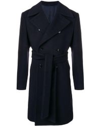 Mp Massimo Piombo - Belted Double Breasted Coat - Lyst