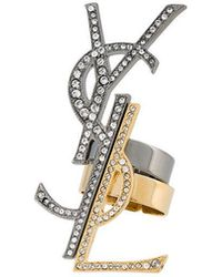 Saint Laurent | Anello A Set 'monogramme Destructure' | Lyst