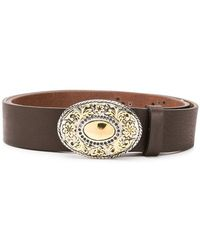 Eleventy - Embellished Plaque Belt - Lyst