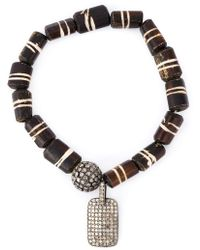 Loree Rodkin - Bead Diamaond Charm Bracelet - Lyst
