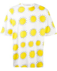 Christopher Kane - Oversize All Over Printed Sun T-shirt - Lyst