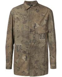 Ziggy Chen - Antique Print Shirt - Lyst
