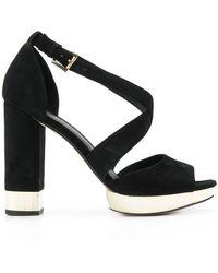 MICHAEL Michael Kors - Valerie Block Heel Sandals - Lyst