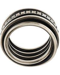 Werkstatt:münchen - 'x' Motif Ring - Lyst