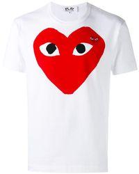 COMME DES GARÇONS PLAY - T-Shirt mit Logo-Print - Lyst