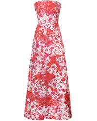 Carolina Herrera - Vestido con estampado de hibiscos - Lyst