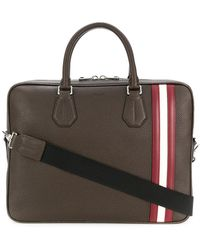 Bally - Striped Detail Tote Bag - Lyst