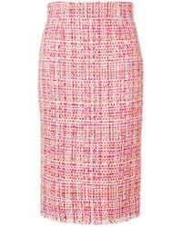 Alexander McQueen - Tweed Pencil Skirt - Lyst